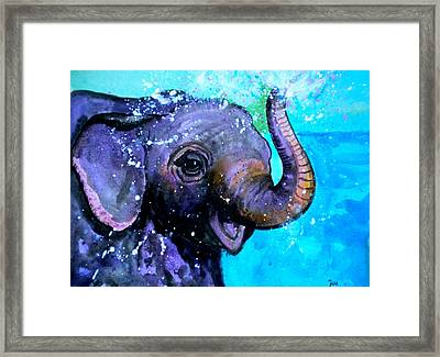 Splish Splash Framed Print by Debi Starr