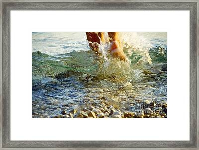 Splish Splash Framed Print by Heiko Koehrer-Wagner