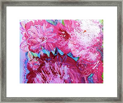 Splishy Splashy Pink And Jazzy Framed Print by Anne-Elizabeth Whiteway