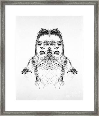 Split Framed Print by Bruce Stanfield
