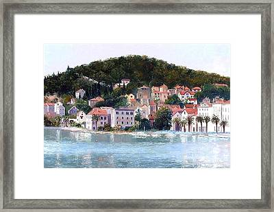 Split Harbour Croatia Framed Print