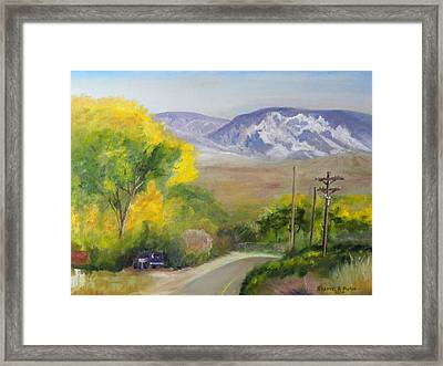 Split Mountain On Golf Course Road Framed Print