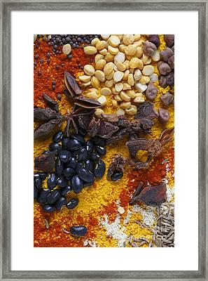Split Peas Anicea And Soy Beans Framed Print by Paul Cowan
