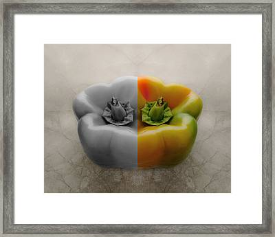 Split Pepper Framed Print