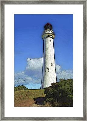 Split Point Lighthouse Framed Print