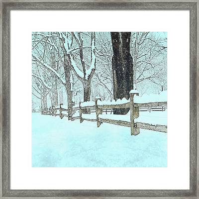 Split Rail Blues Framed Print by John Stephens
