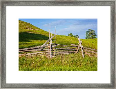 Split Rail Fence 2 Framed Print