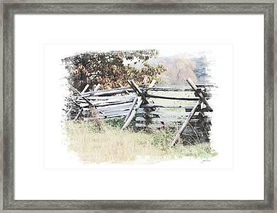 Split-rail Fence Gettysburg Framed Print