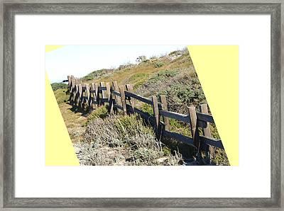Split Rail Fence Yellow Framed Print