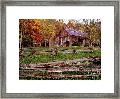 Split Rail Watchdog Framed Print