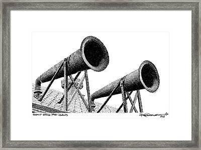 Split Rock Fog Horns Framed Print