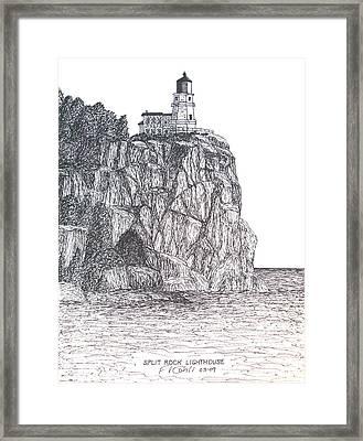 Split Rock Light Framed Print by Frederic Kohli