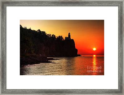 Split Rock Lighthouse - Sunrise Framed Print