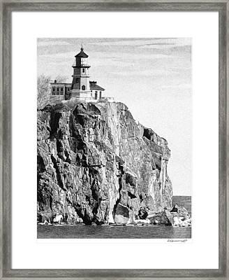 Split Rock Lighthouse Framed Print by Rob Christensen