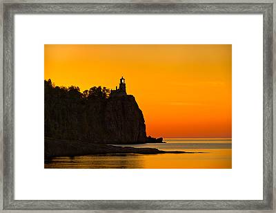 Split Rock Lighthouse Framed Print by Steve Gadomski