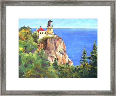 Split Rock Lighthouse Framed Print by Vicki Brevell