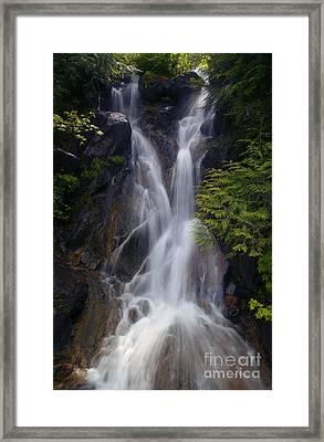 Split Top Falls Framed Print by Mike  Dawson