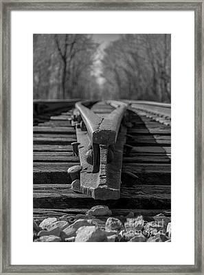 Split Track Framed Print by Rick McKee
