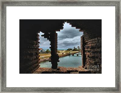 Split Vision Framed Print by Adam Jewell