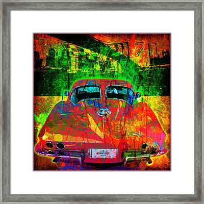 Split Window Corvette Framed Print by Gary Grayson
