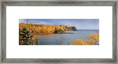 Splitrock In The Fall Framed Print