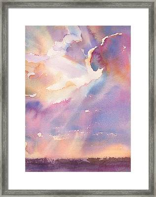Splits The Silver Lining Framed Print by Yevgenia Watts