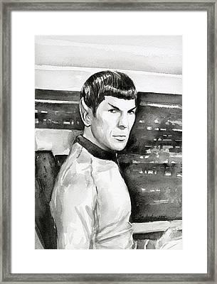 Spock Framed Print by Olga Shvartsur
