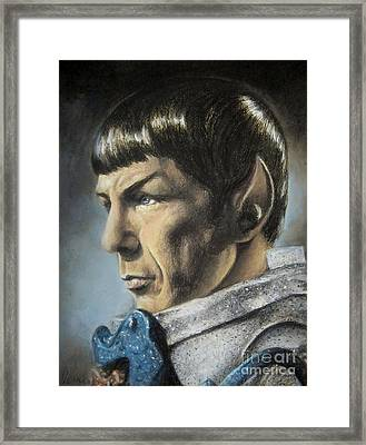 Spock - The Pain Of Loss Framed Print by Liz Molnar