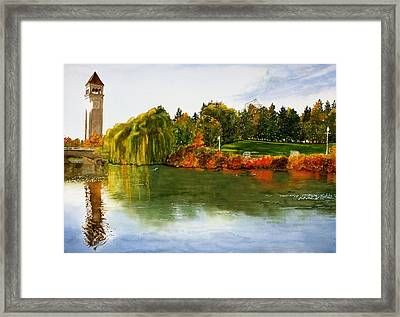 Spokane Clock Tower Framed Print