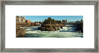 Spokane Falls - Spokane Washington Framed Print by Beve Brown-Clark Photography