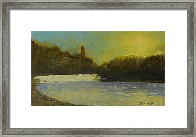 Spokane River Study Number Two Framed Print