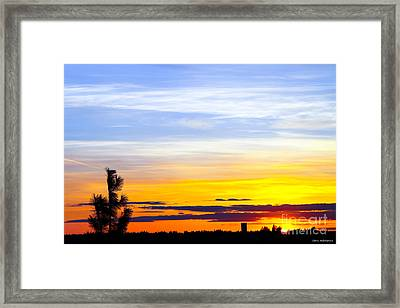 Spokane Wa Sunset Framed Print by Chris Heitstuman