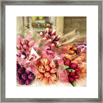 Spoken Without Sound - Flower Art Framed Print by Jordan Blackstone