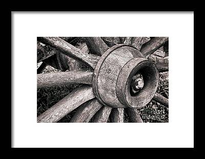 Wagon Wheel Hub Framed Prints