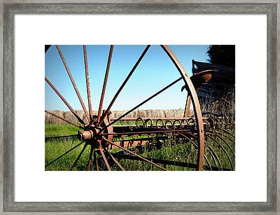 Spokes Framed Print by Cricket Hackmann