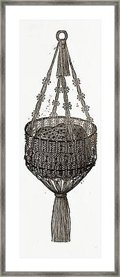 Sponge-bag, 19th Century Fashion Framed Print