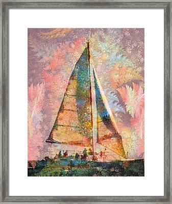 Spontaneity Paradise Nautical Visionary  Framed Print by Betsy Knapp