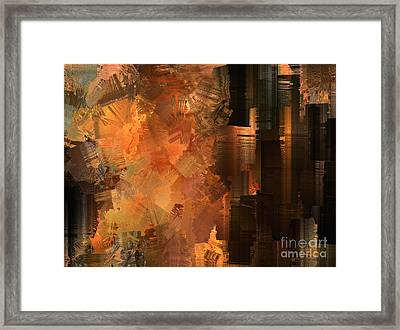 Spontaneous Combustion Framed Print