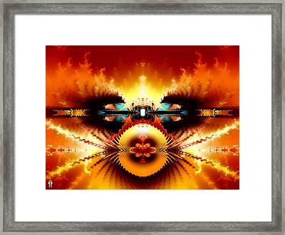 Starship Hades Nc 666 Framed Print by Jim Pavelle