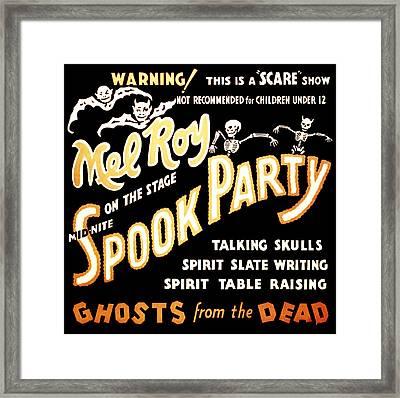 Spook Party 2 Framed Print by Jennifer Rondinelli Reilly - Fine Art Photography
