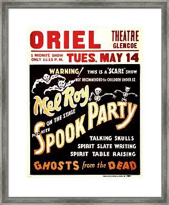 Spook Party Framed Print by Jennifer Rondinelli Reilly - Fine Art Photography