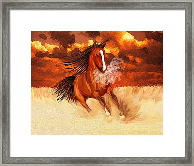 Spooked By The Storm Framed Print by Angela A Stanton