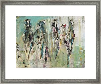 Spooked Framed Print by Frances Marino