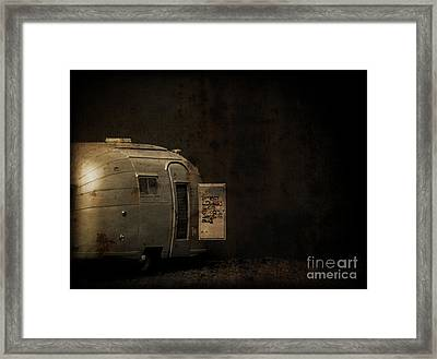 Spooky Airstream Campsite Framed Print by Edward Fielding