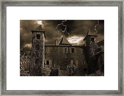 Spooky Chateau Framed Print
