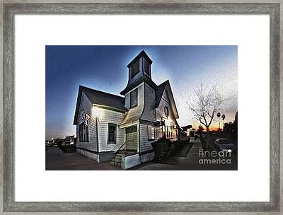 Spooky Church In Chino - 03 Framed Print by Gregory Dyer