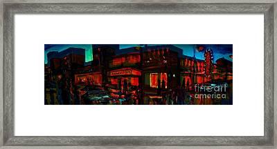 Spooky City Framed Print
