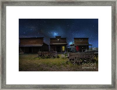 Spooky Ghost Town Framed Print by Juli Scalzi