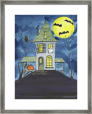 Spooky Halloween Framed Print by Kathleen Parr Mckenna