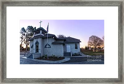 Spooky Looking Church In Chino - 02 Framed Print by Gregory Dyer